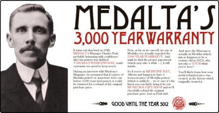 Medalta's 3,000 Year Warranty