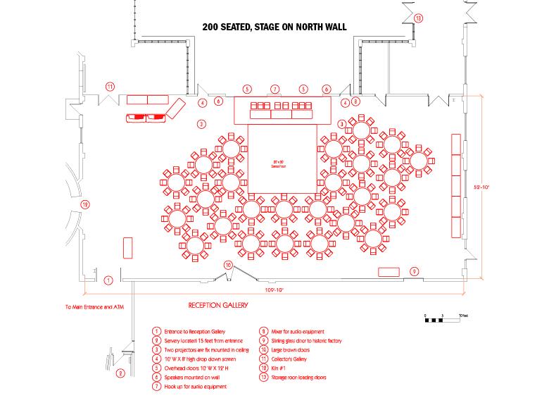 Medalta event floorplan