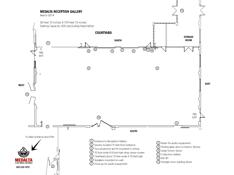 Medalta event floorplan