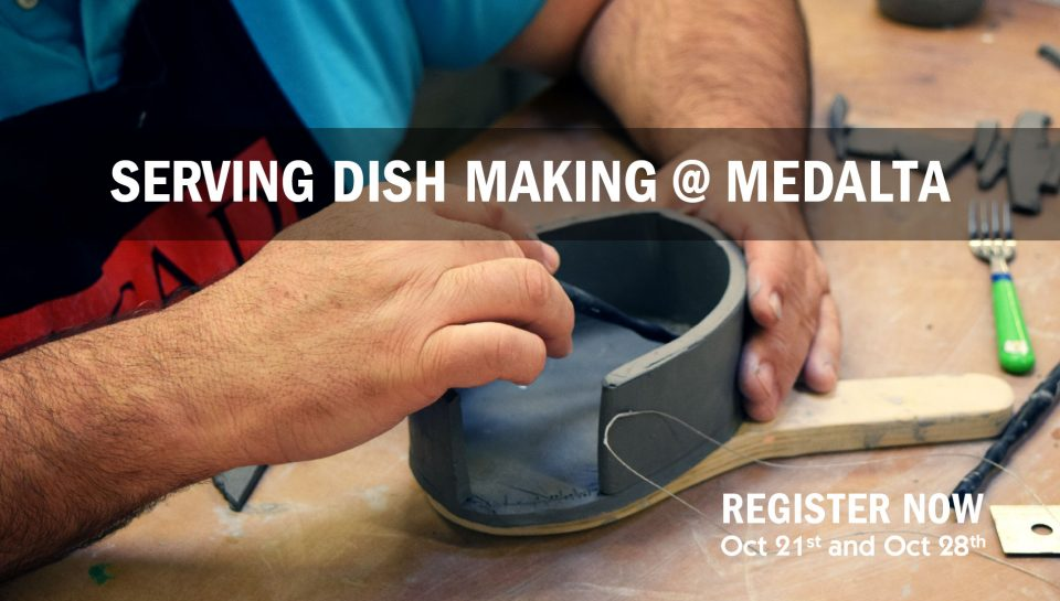 serving dish making @ Medalta